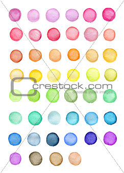 Bright round watercolor blots