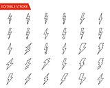 Lightning Vector Icons Set