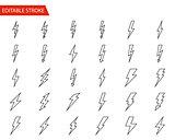 Lightning Vector Icons Set