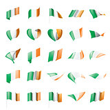 Ireland flag, vector illustration