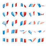 France flag, vector illustration