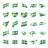 Gabon flag, vector illustration