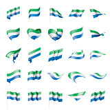 Sierra Leone flag, vector illustration