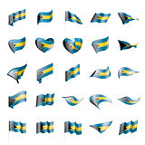 Bahamas flag, vector illustration