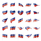 Haiti flag, vector illustration