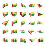 Guinea Bissau flag, vector illustration