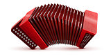 Russian and French accordion national musical instrument