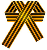 Russian striped St. George ribbon bow symbol of victory day