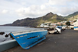 Fishing boats in Madeira.