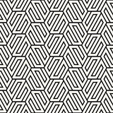 Vector seamless abstract shapes pattern. Modern stylish stripes texture. Repeating geometric tiles