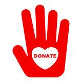 donate logo concept