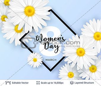 Greeting card for International Women's Day.