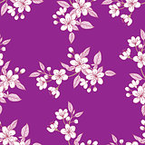 Seamless Pattern with Sakura