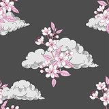 Seamless Pattern with Sakura