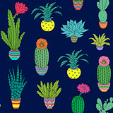 pattern with houseplant