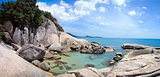 rocky sea lagoon lamai koh samui thailand
