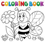 Coloring book happy bee theme 4