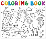 Coloring book happy unicorn topic 2