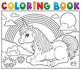 Coloring book lying unicorn theme 2