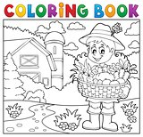 Coloring book woman farmer theme 2