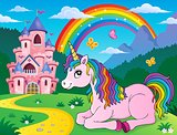 Lying unicorn theme image 2