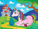 Lying unicorn theme image 3