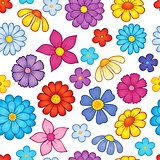 Seamless background flower theme 7