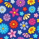 Seamless background flower theme 8