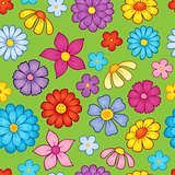 Seamless background flower theme 9