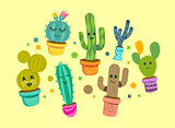 Cheerful Cactus Plant Characters