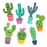Happy Cactus Plant Characters