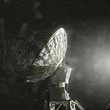 Radio Telescope And The Stars