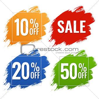 Sale Blobs Banner White Background