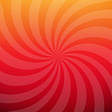 Sunburst Red Poster