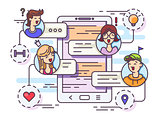General chat group in messenger