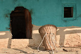 Traditional house wall of northern India.