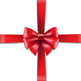 Red Bow White Background