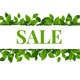 Sale Poster With Leaves