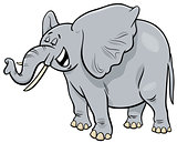 African gray elephant animal cartoon character