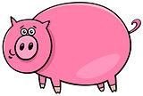 funny comic pig character cartoon illustration