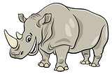 funny rhinoceros animal cartoon character
