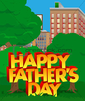 Greeting card or poster for Father's day