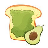 Avocado toast. Fresh toasted bread with avocado. Delicious sandwich
