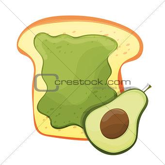 Avocado toast. Fresh toasted bread with avocado. Delicious sandwich