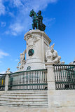 Statue of King Jose on the Commerce square (Praca do Comercio) i