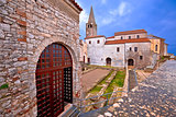 Euphrasian Basilica in Porec astefacts and tower view
