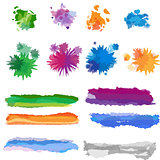 Vector set of watercolor brushes