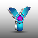 The vector futuristic 3d logo design