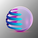 Vector 3d illustration of the clear sphere