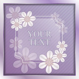 The vector violet background.